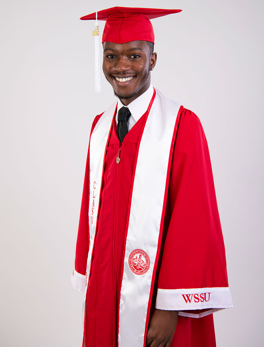 4bbe91e1866 WSSU unveils red graduation cap and gowns - Winston-Salem State ...