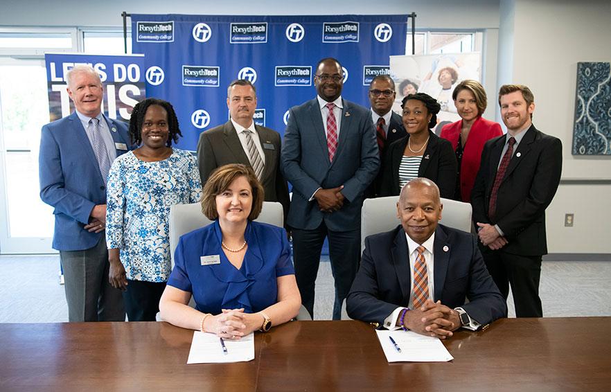 WSSU, Forsyth Tech sign new transfer partnership agreement - Winston