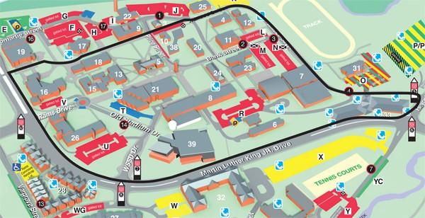 Wellness Trail - Winston-Salem State University on my map, uh map, oh map, daylight map, people map, no map,